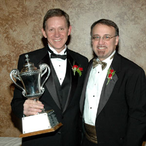 Tony Crasi Receiving the 2008 Summit / Portage County Builder of the Year Award
